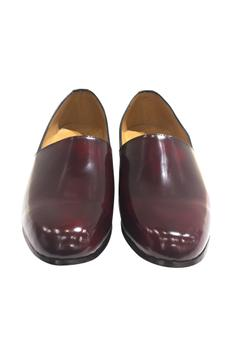 Dual color handcrafted pure leather shoes