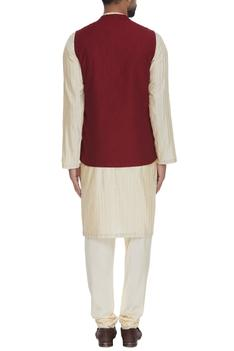 Textured Silk Nehru Jacket