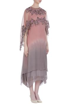 Embroidered Cape with Kurta