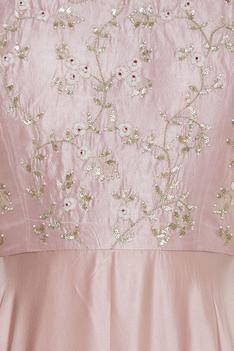 Crepe gown with zardozi embroidery