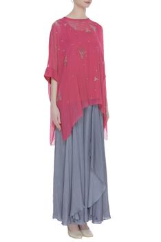 Embroidered Asymmetric Top