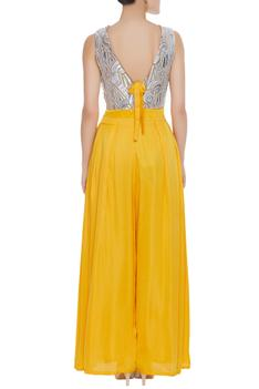 Embroidered Flared Jumpsuit