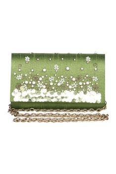 Sequin & pearl embellished clutch