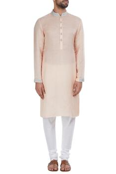 Silver zardozi embroidered kurta set