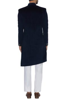 Textured cupro sherwani with straight pants