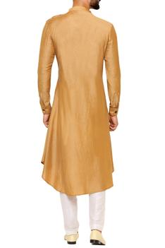 Draped asymmetric hem kurta with pants