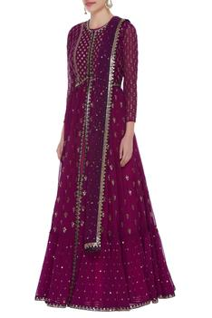 Hand embroidered anarkali kurta set
