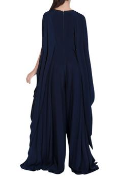 Embroidered Draped Jumpsuit