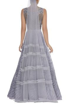 Embellished Flared Gown