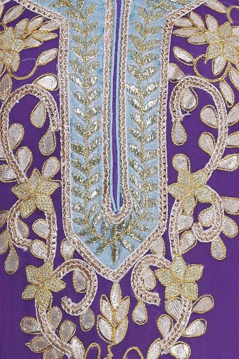 Kurta Sharara set with gota embroidery