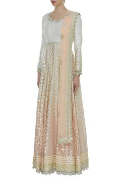 Ombre Embroidered Anarkali Set
