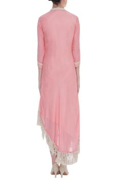 Tassel work asymmetric dress