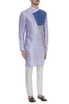 Colour block kurta