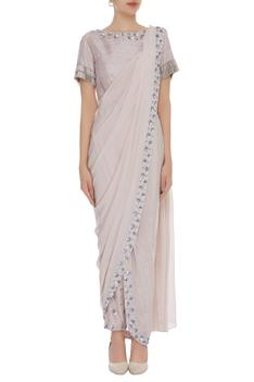 Pre Draped Saree With Pants