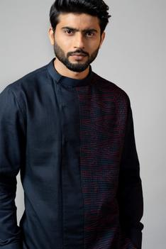 Linen Layered Kurta Set