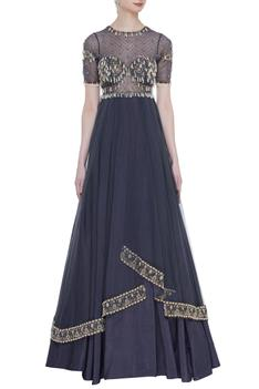 Embellished Layered Gown