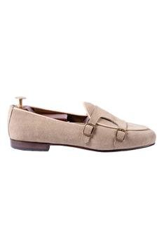 Suede Double Monk Shoes