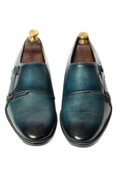 Hand Painted Double Monk Shoes