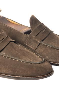 Handcrafted Suede Penny Loafers