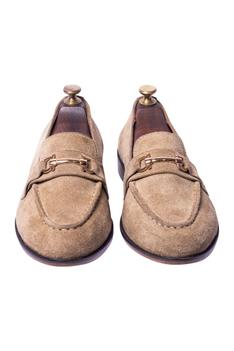 Handcrafted Suded Horsebit Loafers