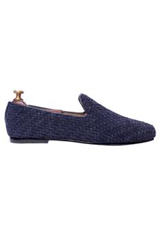 Handcrafted Suede Woven Loafers