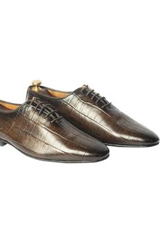 Handcrafted Crocodile Oxfords