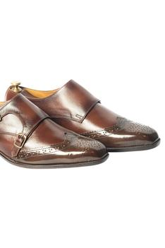 Handcrafted Double Monk Brogue Shoes