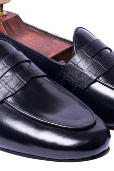 Handcrafted Crocodile Penny Loafers