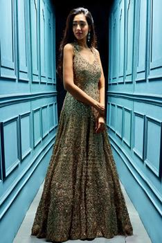 Sequin Embellished Gown