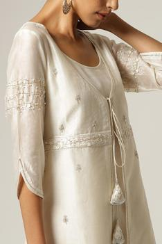Silk Chanderi Jacket with Kurta