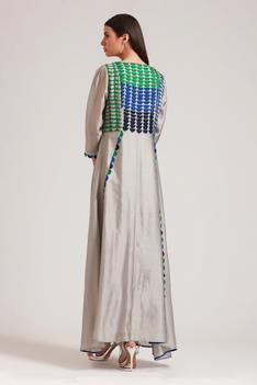 Applique Maxi Dress with Inner