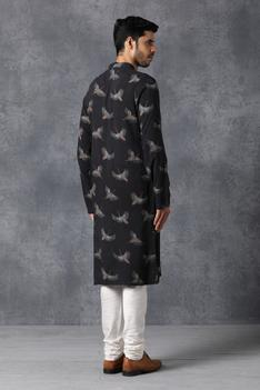 Bird Print Kurta & Pant Set