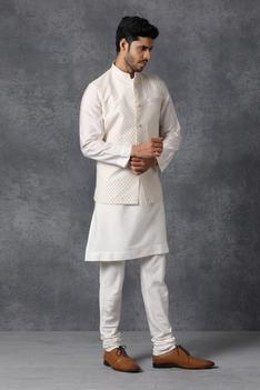Chanderi Silk Nehru Jacket