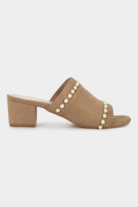 Open Toe Block Heel Mules