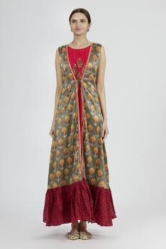 Chanderi Silk Kurta with Jacket