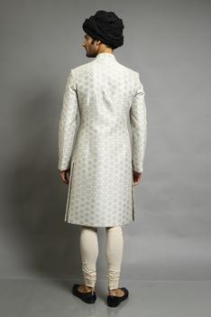 Chanderi Applique Embroidered Bandhgala
