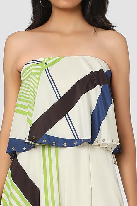 Organic Cotton Silk Popover Bandeau Jumpsuit