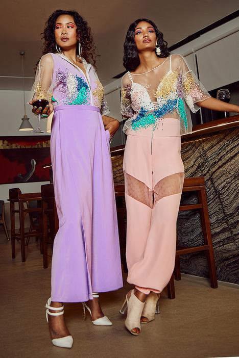 Embellished Kimono Jumpsuit