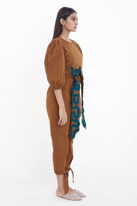 Puff Sleeve Jumpsuit
