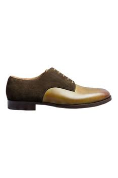 Handcrafted Suede Leather Derby Shoes