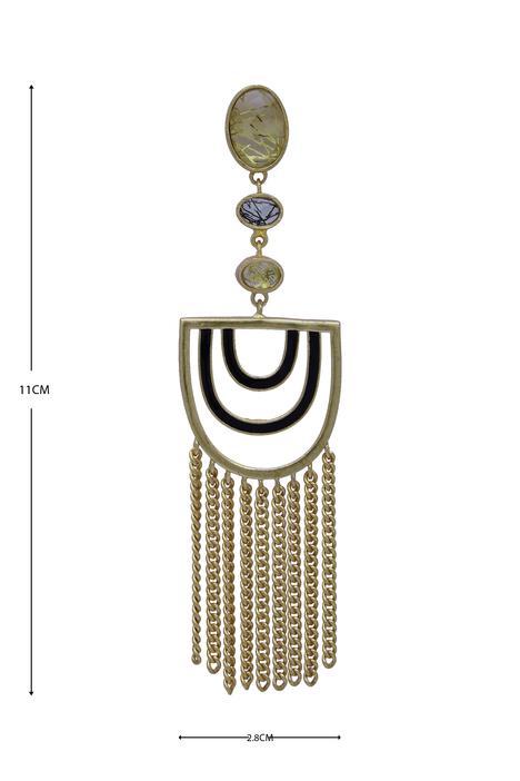 Semi circle tassel earrings