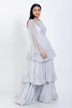 Layered Ruffle Gown