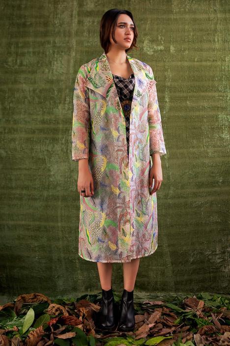 Handloom Organza Silk Jacket