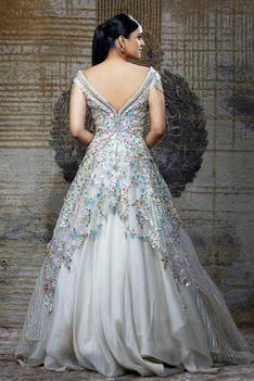 Organza Embroidered Gown