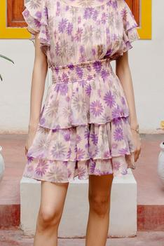 Regis Floral Skirt and Top