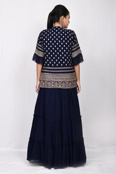 Embroidered Gown & Jacket Set