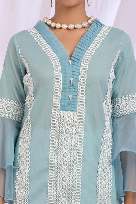 Embroidered Cotton Kurta