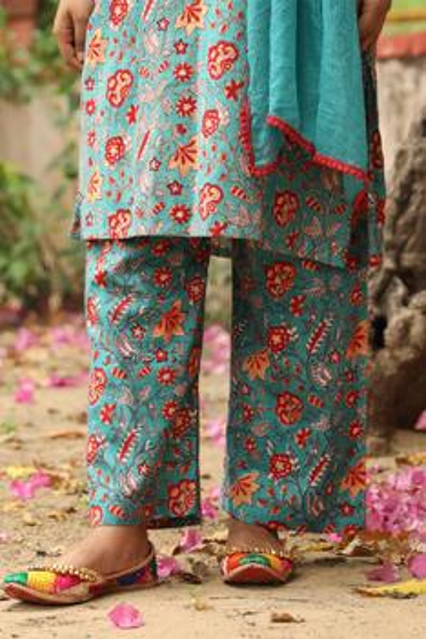Floral Print Kurta Set
