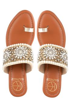 Marilyn Floral Embroidered Wedges
