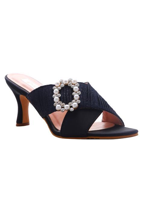 Diana Cross Strap Embellished Heels